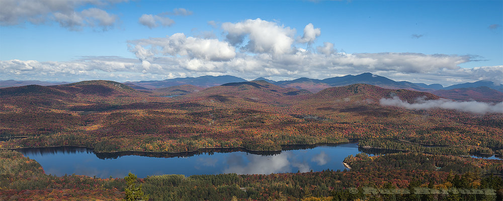 The fog finally burned off after several hours on the top of Goodnow Mountain revealing a beautiful fall day.