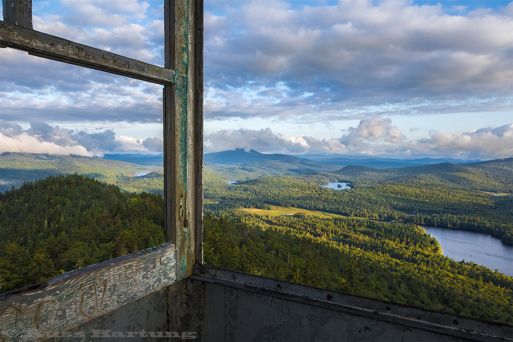 View towards the Northwest from the Goodnow Mountain fire tower.