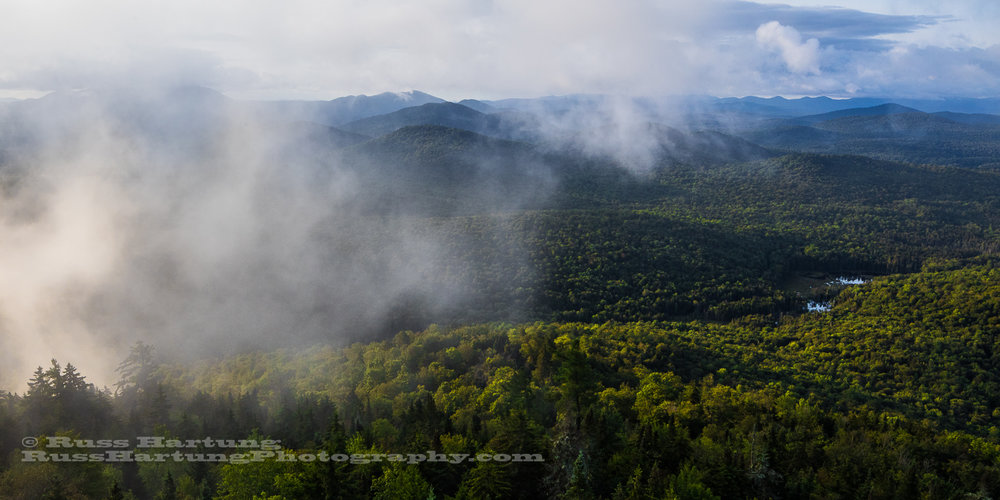 Southern view from the Goodnow Mountain fire tower.