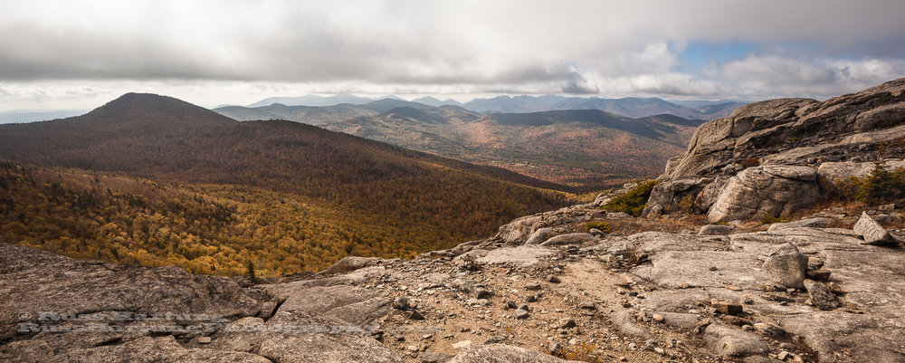 View from a barren ridge on Jay Mountain.