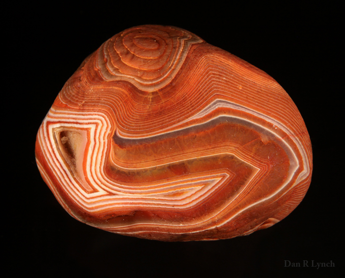 A beautiful example of a naturally water-worn Lake Superior agate.