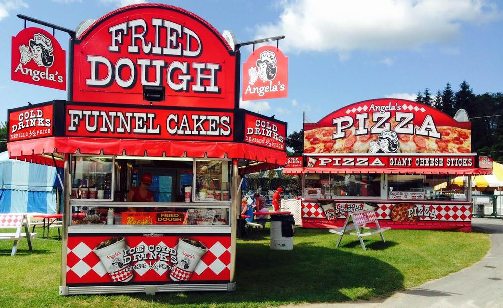 Angela's Food Court - Saratoga County Fair 2015 - Saratoga, NY