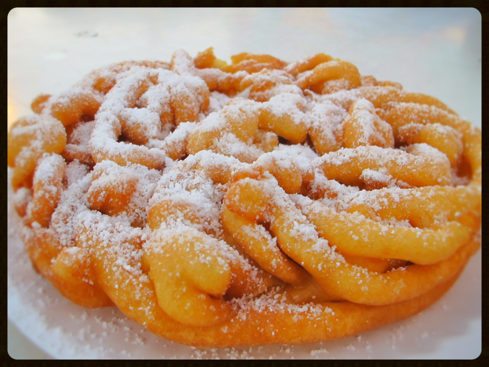 Classic Funnel Cake, Fried in all vegetable oil until golden brown, finished with powdered sugar.
