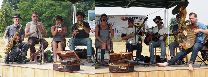 Tuba Skinny at the Chimacum Farmer's Market. Photo by Katy McCoy.