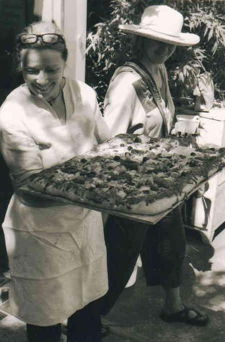 Linda Yakush with Focaccia