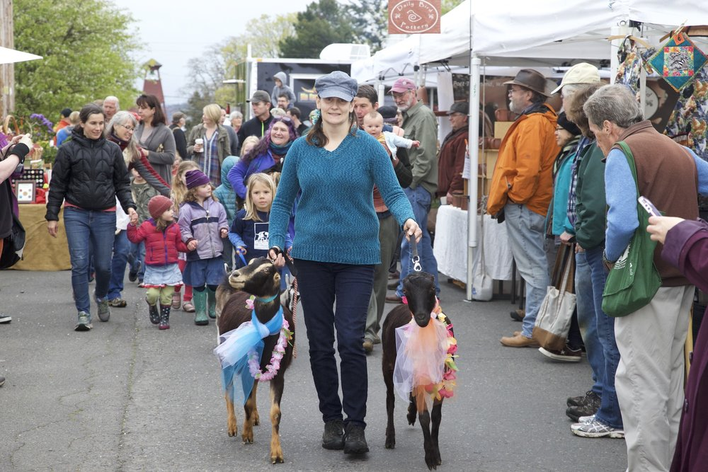 Opening Day of the Port Townsend Saturday Farmers Market April 1, 2017