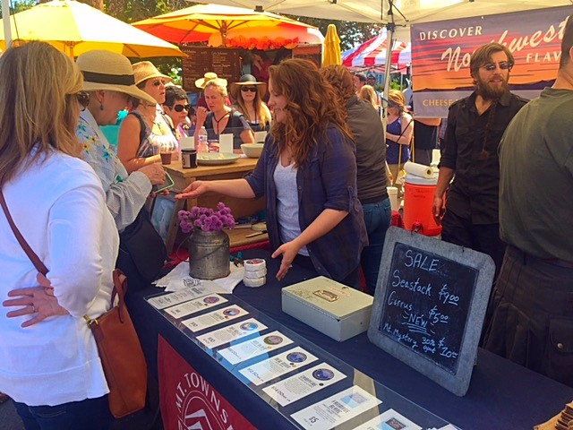Mt. Townsend Creamery at the 4th Annual Port Townsend Artisan Food Festival.