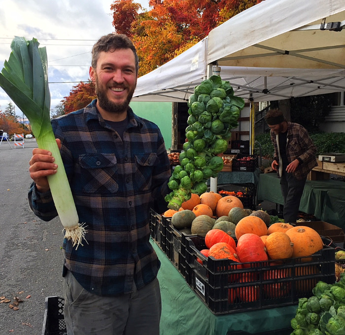 Check out these beautiful, huge veggies grown by Midori Farm.