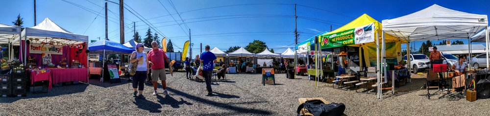 Photo of the Chimacum Farmers Market by A Fare Story.