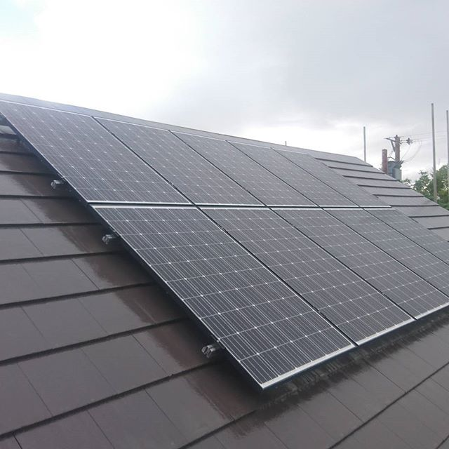 JA Solar panels on top of a Schletter mounting rail, on a new build in the Eden Valley. #solarinstaller #solarpanels #solarpv