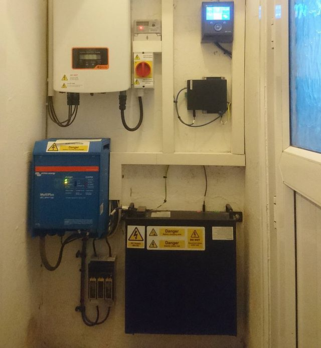 @victron_energy, BYD batteries and Solis Inverter install we did recently. These batteries power London Buses and offer 100% depth of discharge. This is a really good, reasonably priced, battery solution, for PV systems.