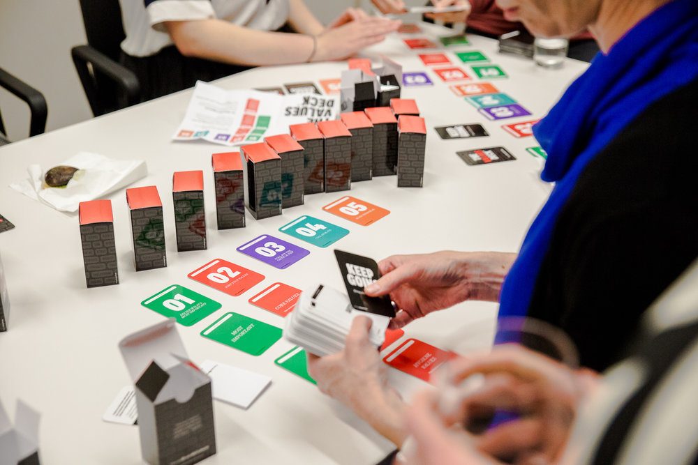 Play the values deck with your team and find out what they believe truly matters to your organisation.