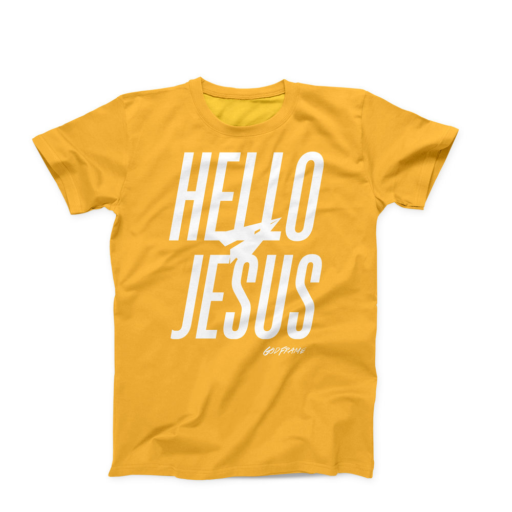 Hello Jesus - Logo T-Shirt - Yellow - Product Image.jpg