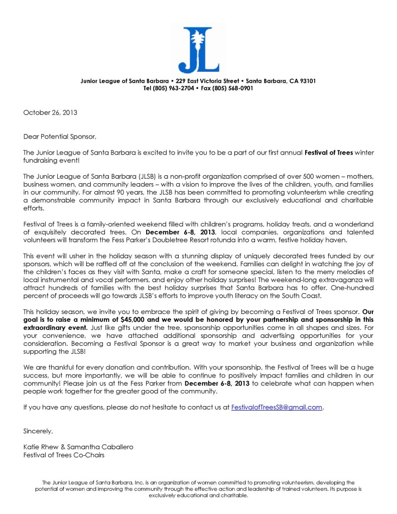 FOT Sponsorship Letter
