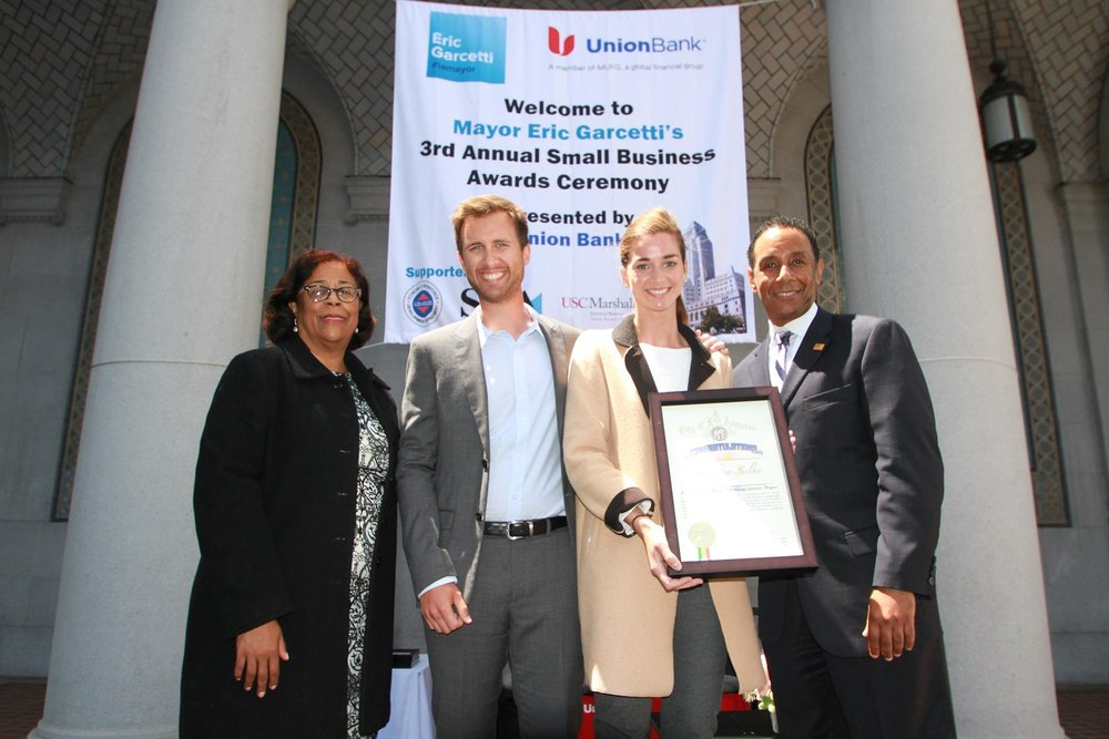 Brighten Solar Co. Wins Los Angeles Outstanding Small Business Award
