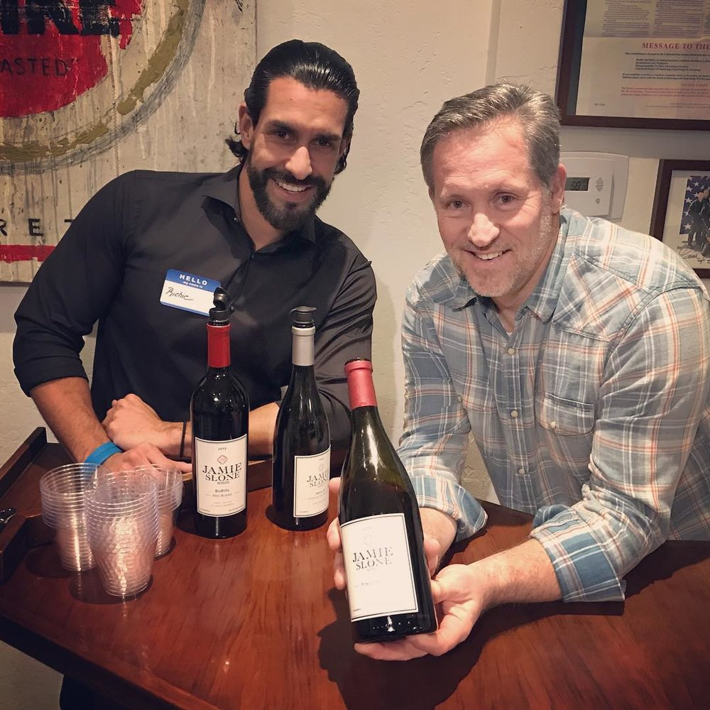 Richie with Jamie Slone Wines