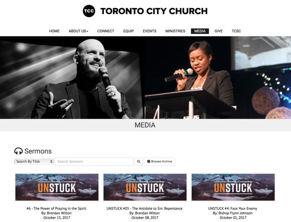 Weekly sermons online..Just a click away!