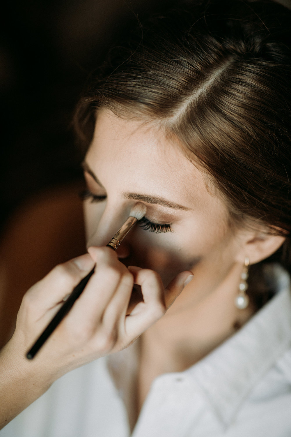 Wedding makeup application