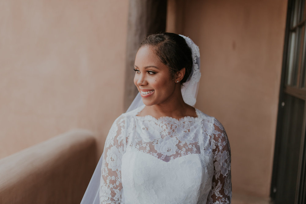 Dark skin bridal makeup in Santa Fe, NM