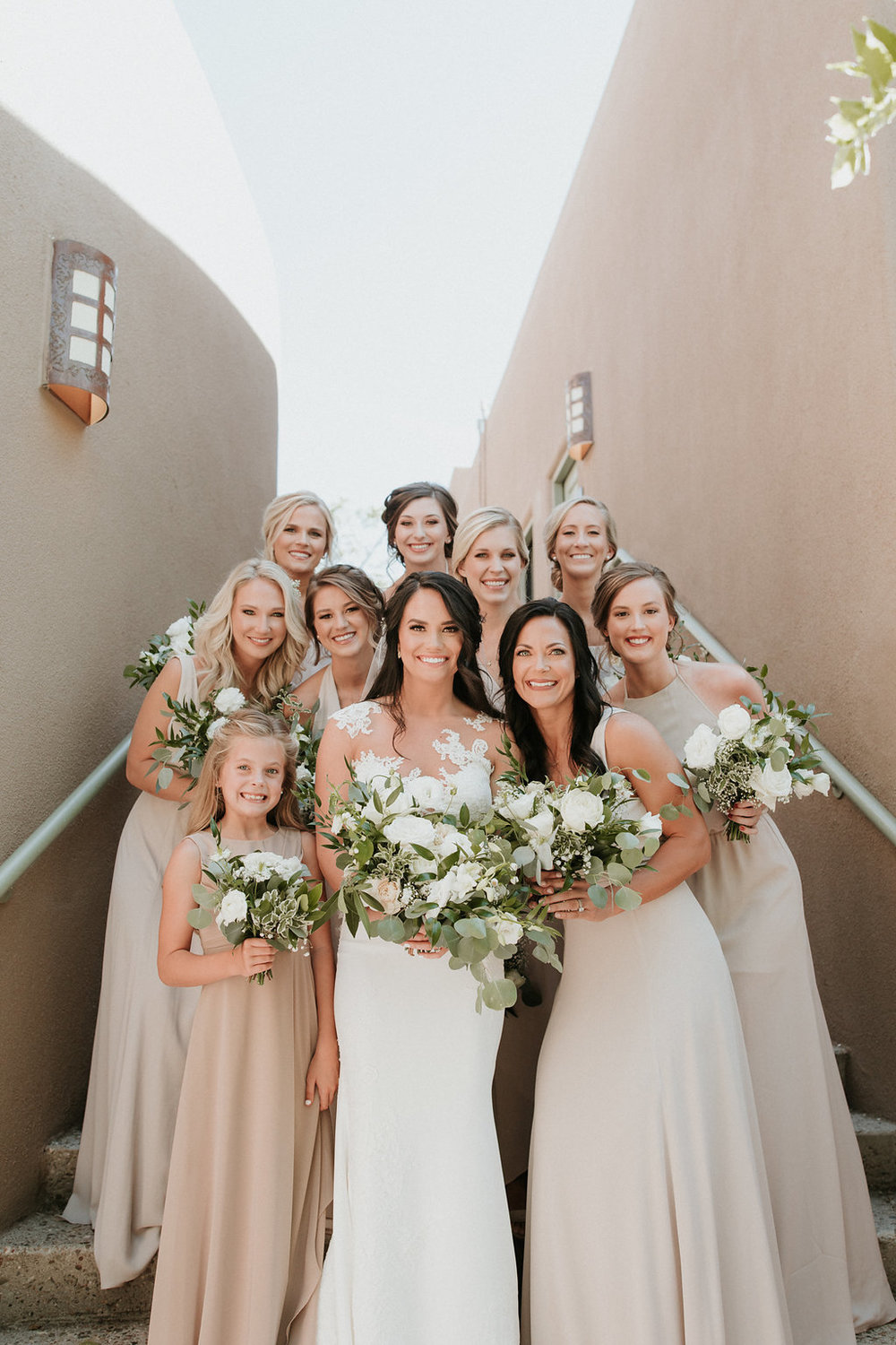 Bridal party makeup by Betty Rose in Albuquerque.