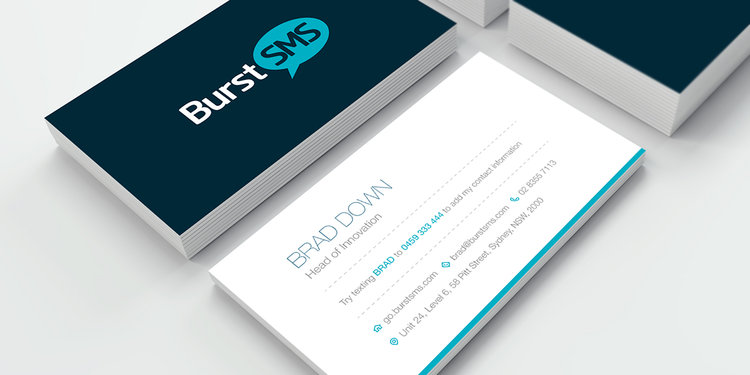 Stand out from the pack by adding sms to your business cards stand out from the pack by adding sms to your business cards burst sms reheart Gallery