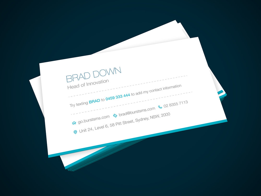 Stand out from the pack, by adding SMS to your business cards ...