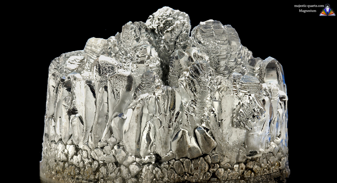 Image of magnesium in its raw mineral state from majestic-quartz.com (majestic quartz crystal shop)
