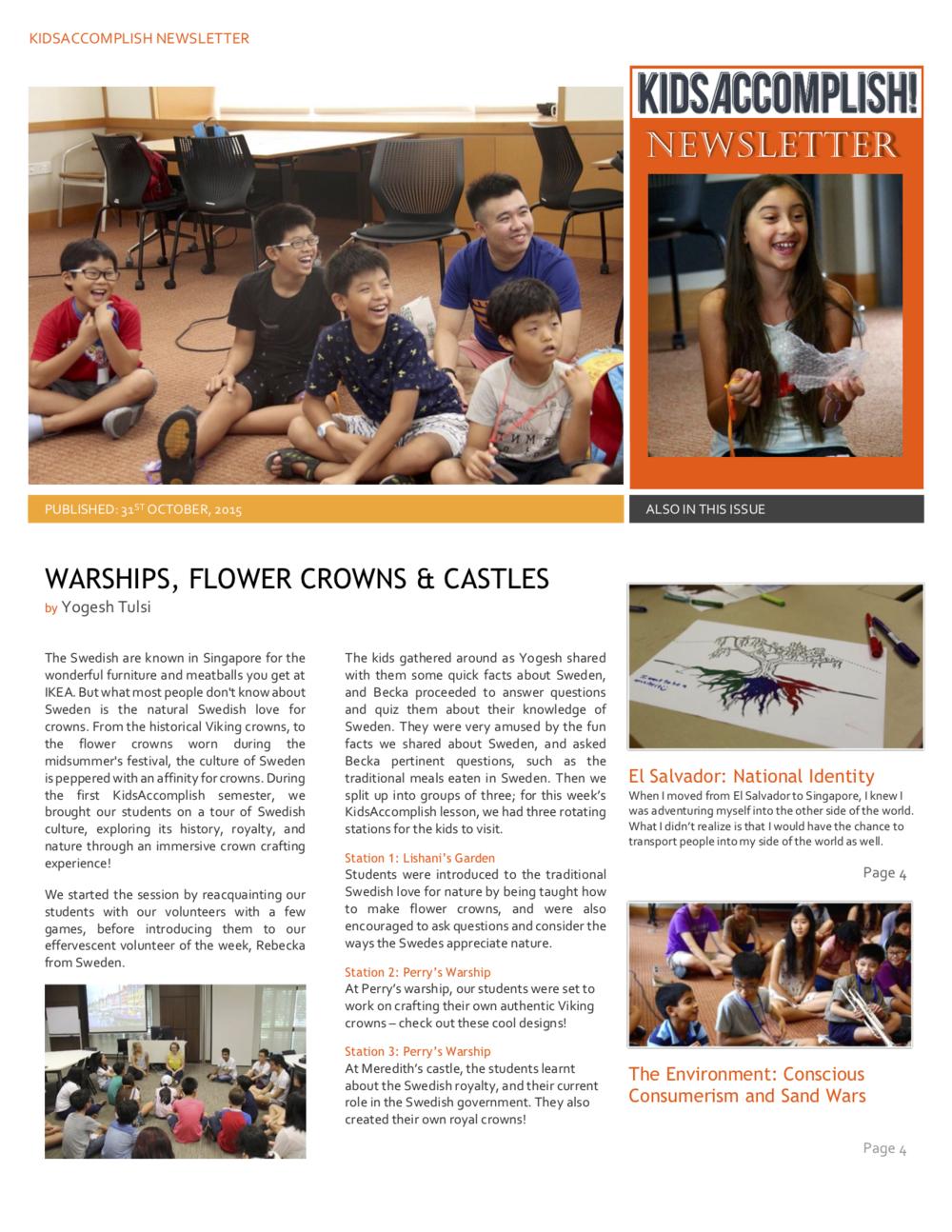 Newsletter - Semester 2014/2015