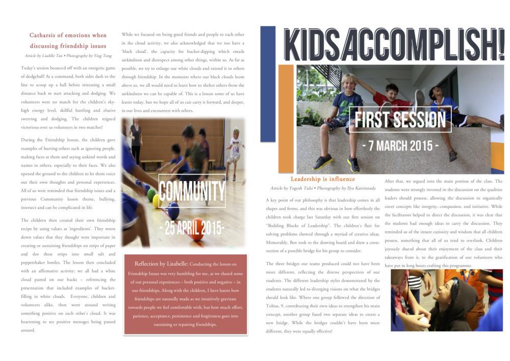 Our Inaugural Newsletter - A summary of the semester's activities