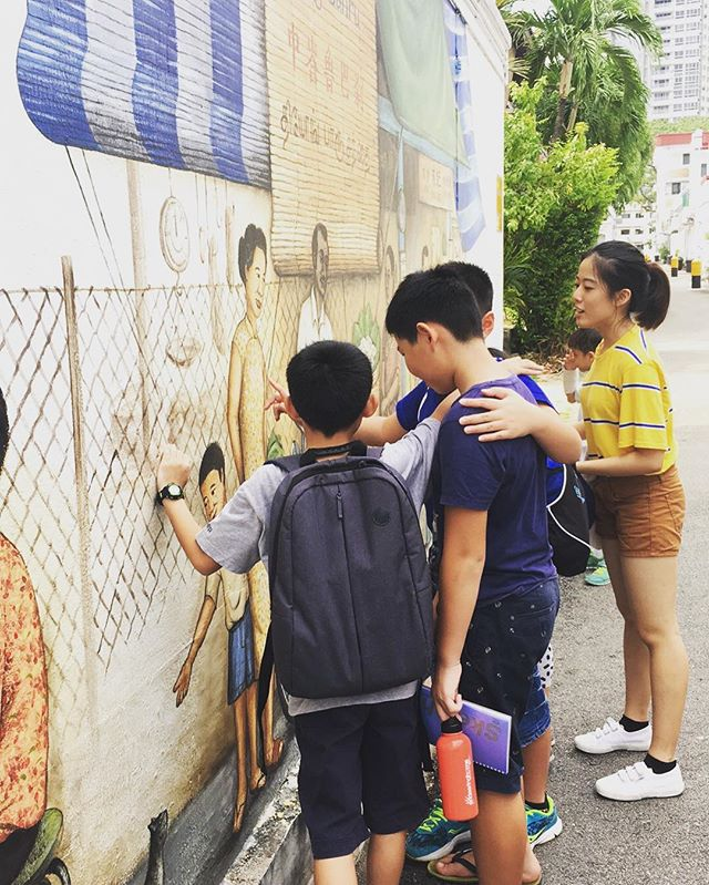 KAE goes to Tiong Bahru! Learning about the history of Tiong Bahru through their murals