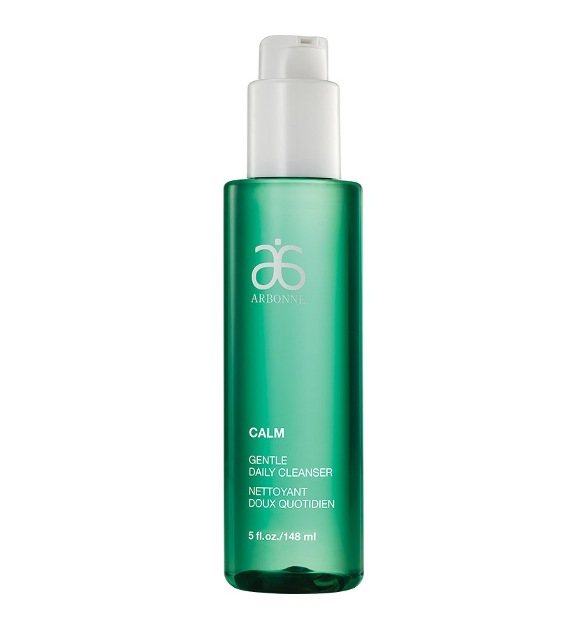 Gentle Daily Clenser - Wash away the day with this gently cleanser.  Once I switched to this calming cleanser, the redness and uneven tones in my skin immediately disappeared.  One pump is all you need - one bottle lasts 12-15 weeks for me.  Pro tip: The Arbonne night cream pairs well for a mini-facial every night.Product Facts:Japanese green tea helps soothe skin; Sea mayweed calms skin; Chamomile contains antioxidant properties