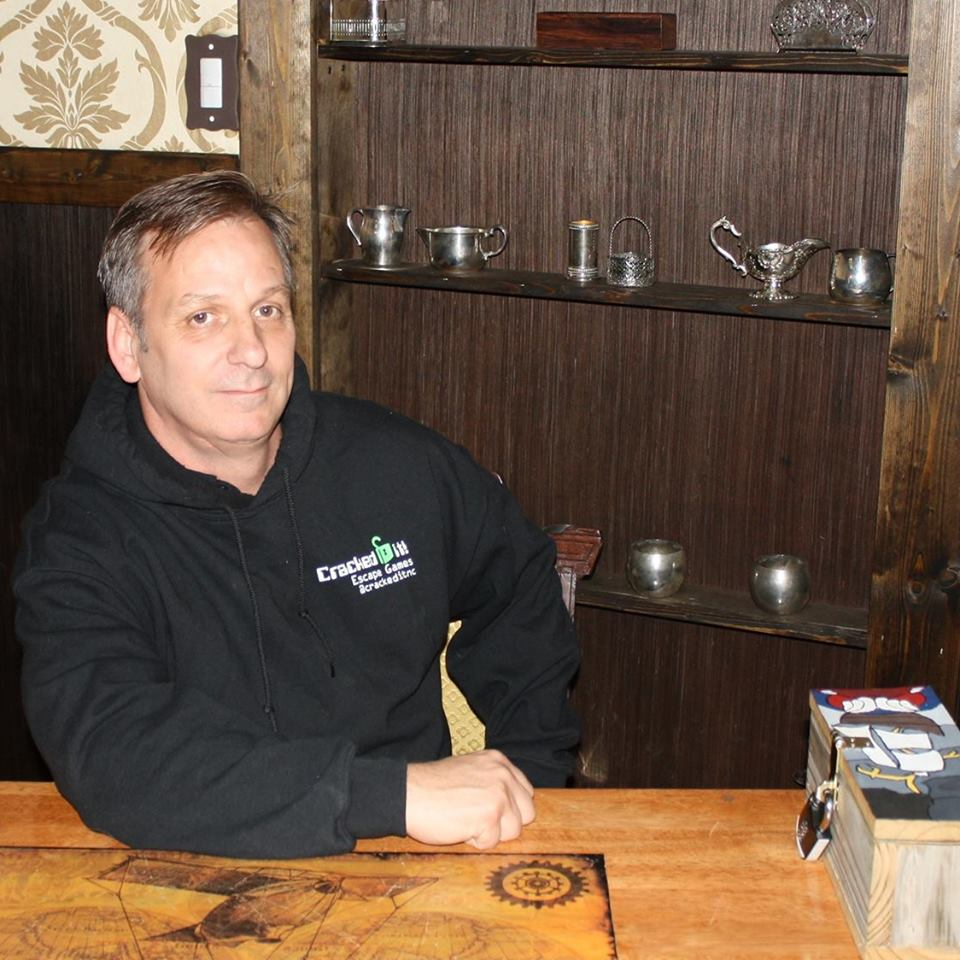 Brian Vinciguerra is a retired Marine and is the co-founder and chief marketing officer of Cracked it! Escape Games in Jacksonville, North Carolina.