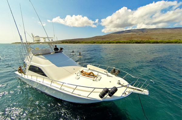 Jayhawk Maui Charter boat off Lanai