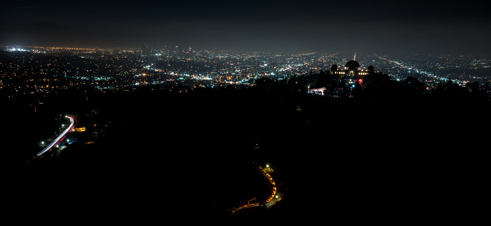Griffith Park at Night, California