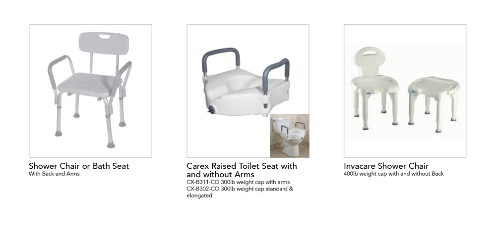 Shower Chairs / Bath Seats / Raised Seats — Home Medical Express