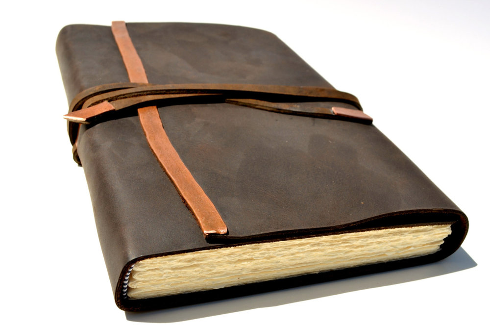 This is a beautiful leather journal, found on Etsy