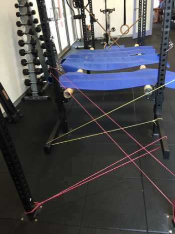 An obstacle course warm up to help with balance skills from one of our recent Move Smart kids courses at The Movement Team! The kids had to be very careful not to touch any of the obstacles!