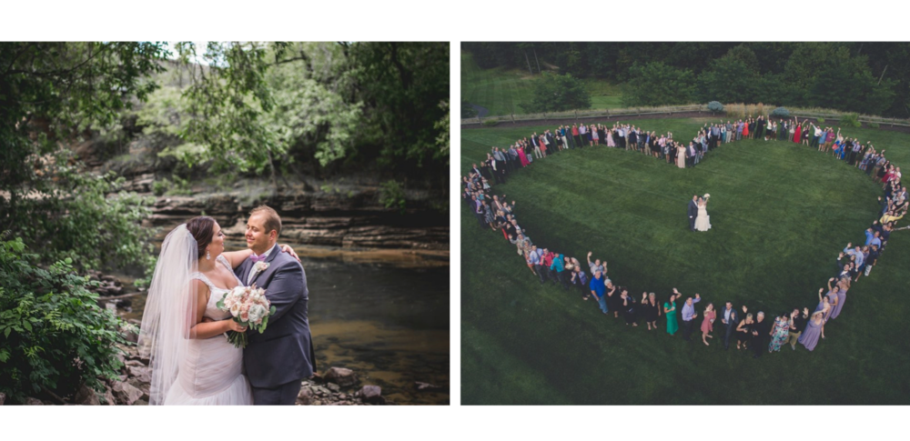 Kadie & David Hochmuth   When the entire reception comes out to make a heart for the bride and groom...  Photo:  Thrive Photography and Films
