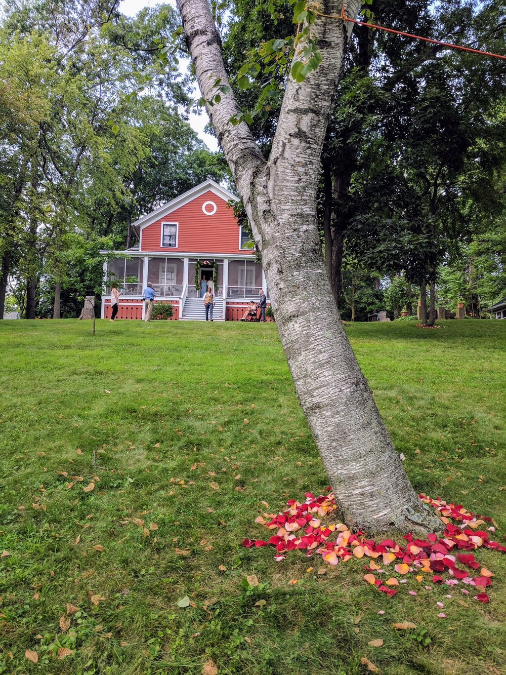 What do they have in common? - These weddings tend to be more intimate. The total number of guests comes to about 100 and they're usually outdoors for both the ceremony and reception. (mostly with a tent for reception)Most of our clients who have chosen a destination wedding to Wisconsin, also have WI roots and/or backgrounds. However, one couple  last year just loved the summer weather here in Wisconsin.