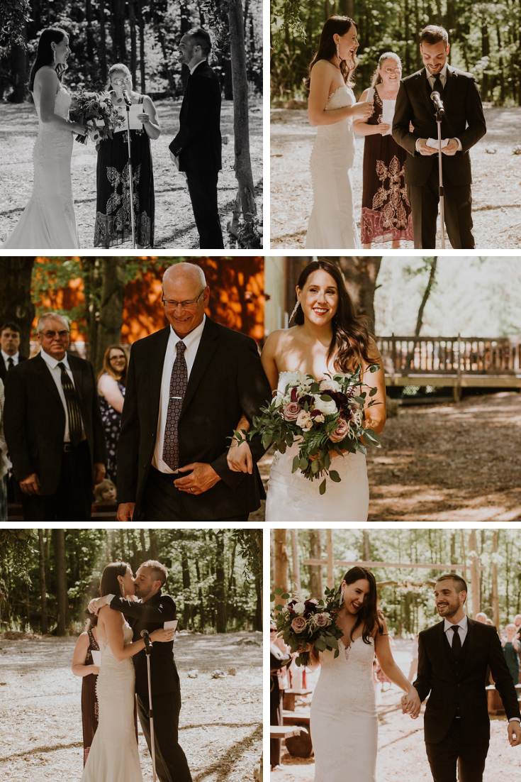 Neira Event Group Wedding Ceremony Wisconsin Dells Wedding WI Dells Traditional Wedding Summer Wedding