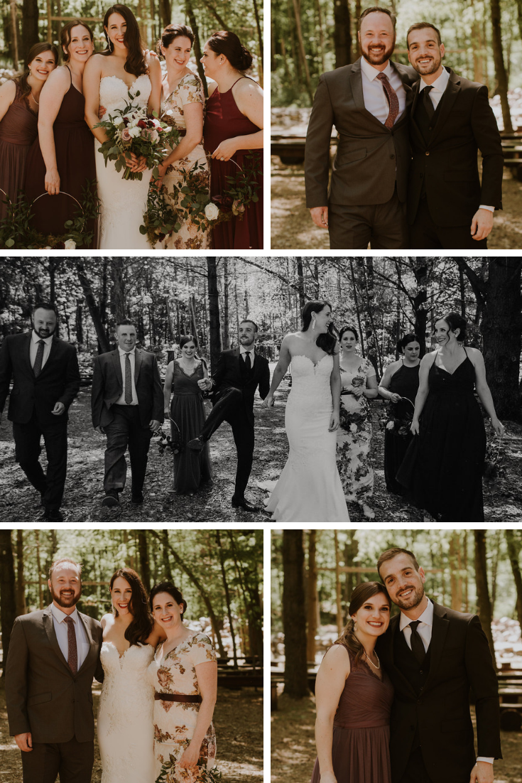 Neira Event Group Erika Diaz Photography The Swan Barn Door Friendship Family Love Wisconsin Dells WI Bridal Bridal Party