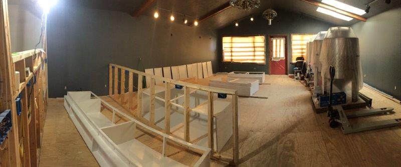 Taproom in progress