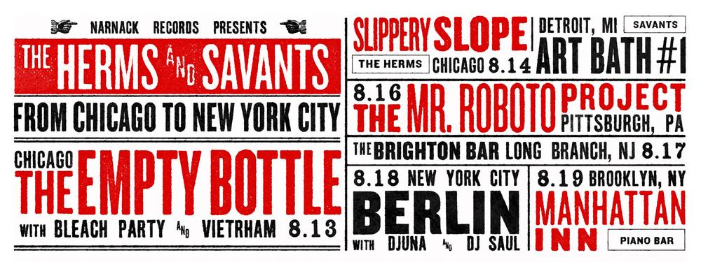 Savants' upcoming shows.