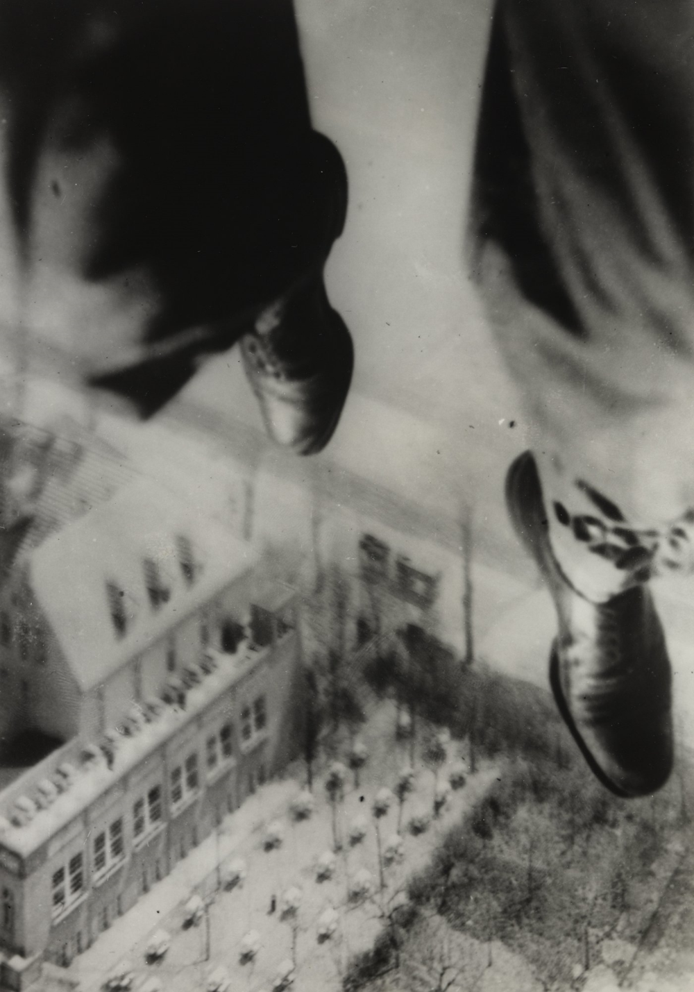 Willi Ruge (German, 1882–1961).  Seconds before Landing  detail, from the series I Photograph Myself during a Parachute Jump. 1931. Gelatin silver print, 8 1/16 × 5 9/16″ (20.4 × 14.1 cm). The Museum of Modern Art, New York. Thomas Walther Collection. Gift of Thomas Walther