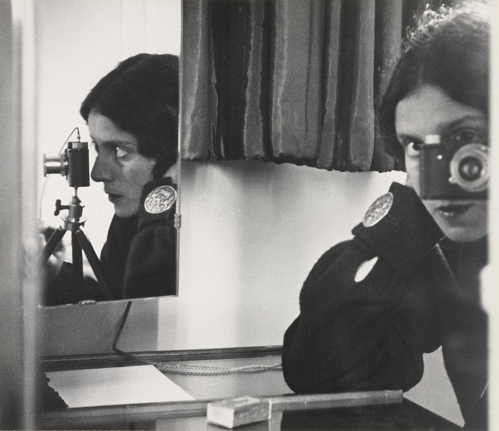 "Isle Bing.  Self-Portrait in Mirrors . 1931. Gelatin silver print, 10 1/2 x 12"" (26.8 x 30.8 cm). The Museum of Modern Art, New York. Joseph G. Mayer Fund. © 2016 The Ilse Bing Estate / Courtesy Edwynn Houk Gallery"