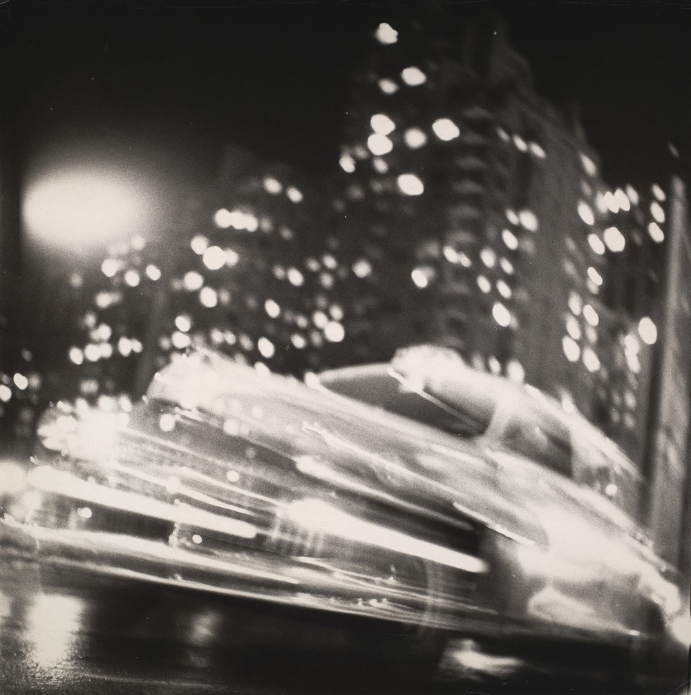 "Ted Croner.  Taxi – New York – Night . 1947-48. Gelatin silver print,  15 5/8 x 15 1/2"" (39.7 x 39.4 cm). The Museum of Modern Art, New York. The Family of Man Fund"