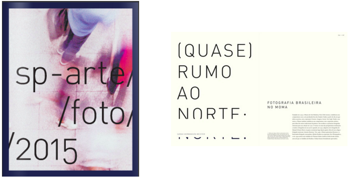 """(Almost) Due North: Brazilian Photography at MoMA"".  SP-Arte/Foto 2015 Feira de Fotografia de São Paulo. São Paulo: SP-Arte, August 2015. pp. 106-114 (Portuguese) and 145-147 (English)"