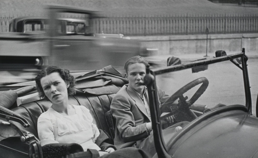 "Walker Evans.  Parked Car, Small Town Main Street  . 1932. Gelatin silver print,5 1/2 x 8 15/16"" (14 x 22.7 cm). The Museum of Modern Art, New York.Lily Auchincloss Fund.© 2016 Walker Evans Archive,The Metropolitan Museum of Art"