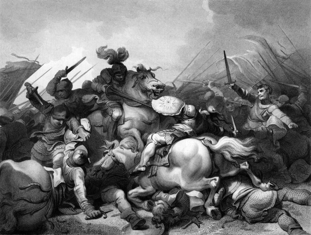 Battle of Bosworth by Philip James de Loutherbourg