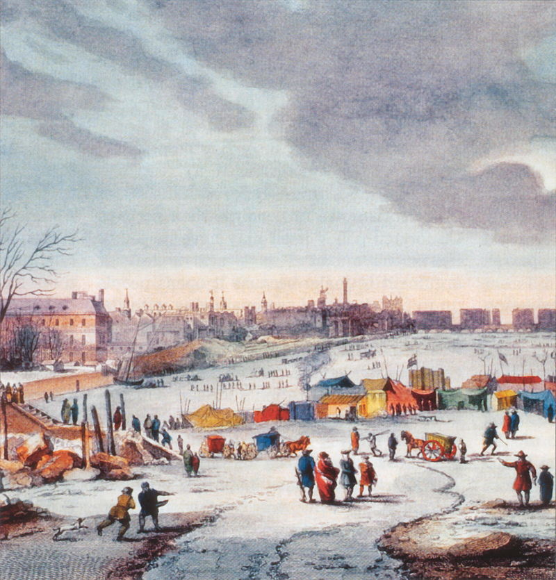 Thames Frost Fair 1683-1684, by Thomas Wyke